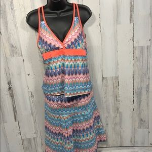 Title Nine activewear Skirt&Top Colorful